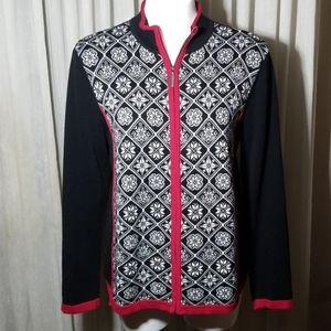 Breckenridge Zip Front Ladies Sweater Size Medium